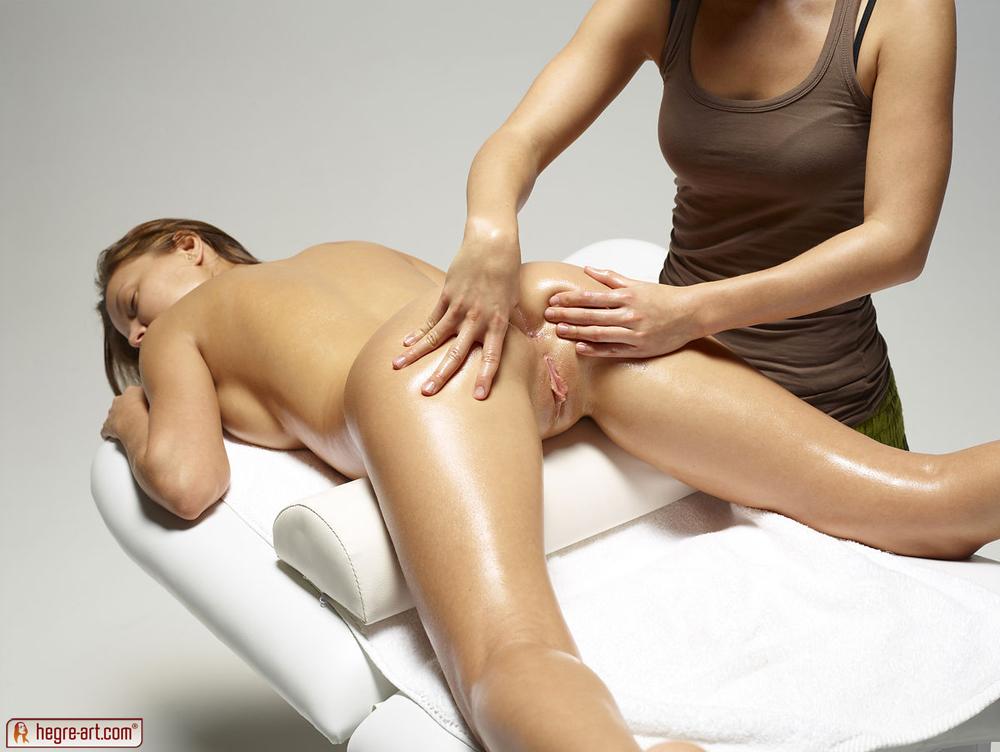Milf Lesbian Massage Seduction