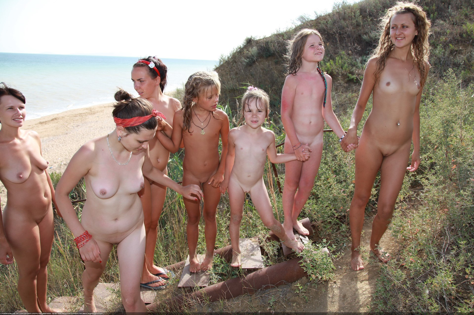 Rather Russian family nudist