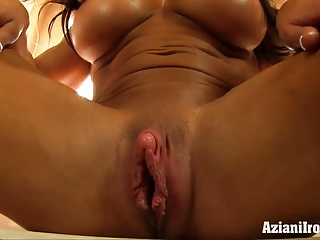 Tied cum mouth blowjob
