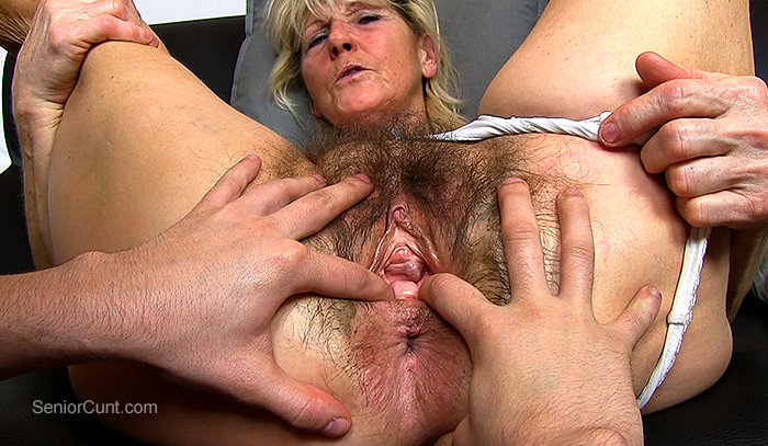 Naked woman in the office