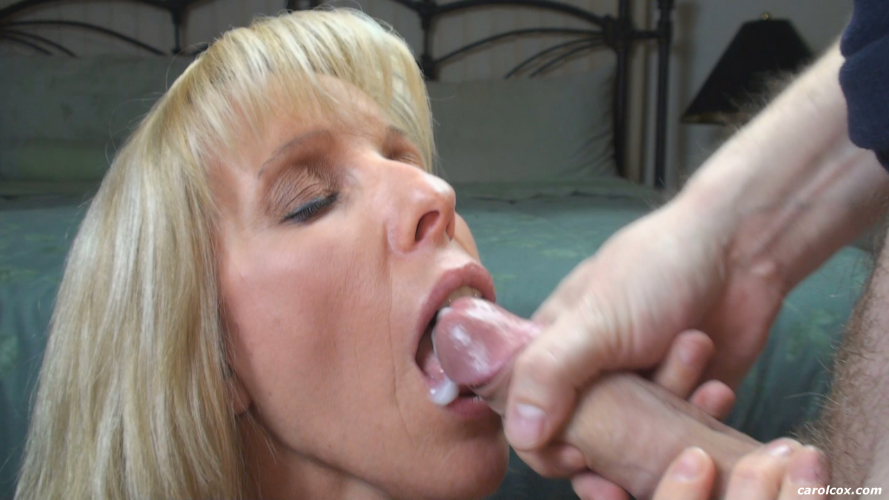 Excellent message son cums in mom mouth with