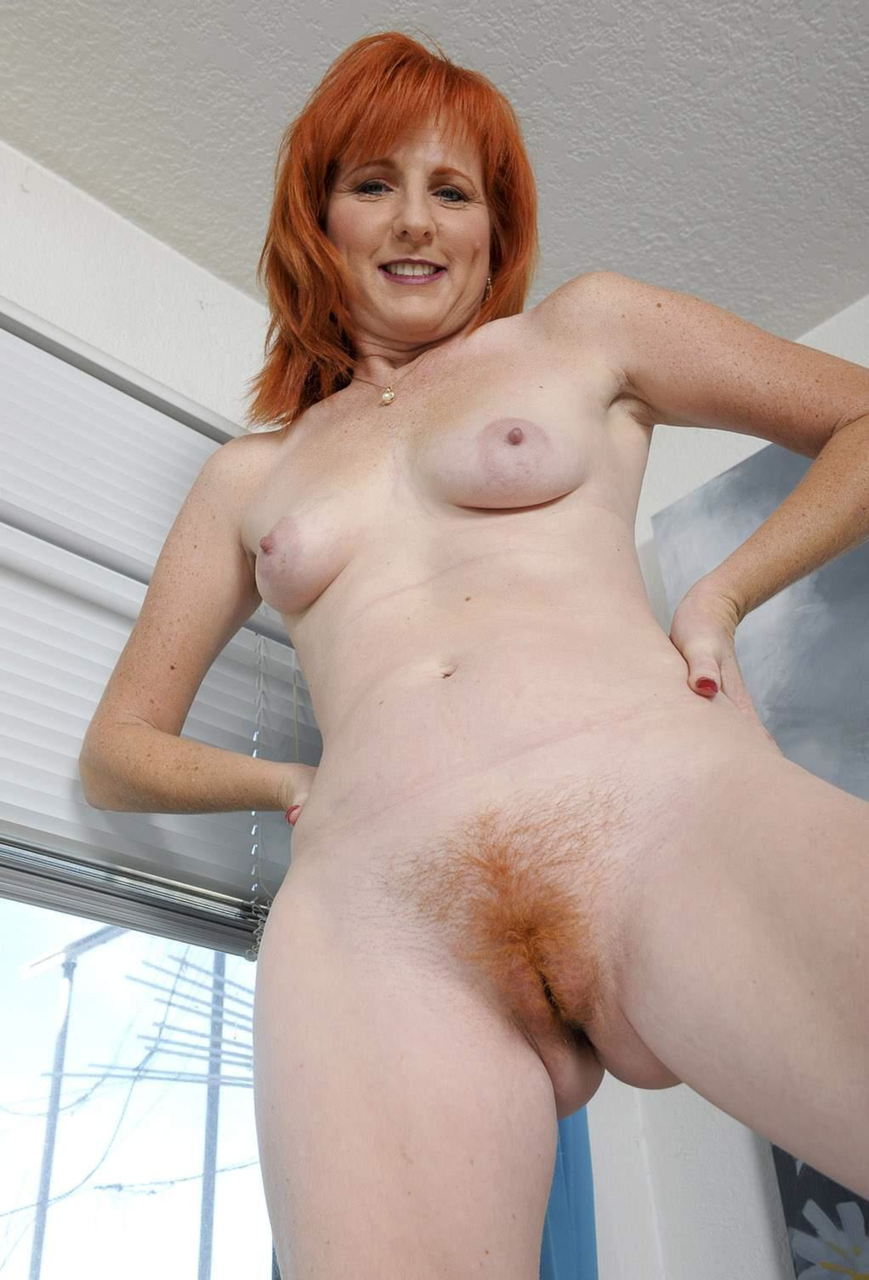 Your Skinny hairy redhead amature with you