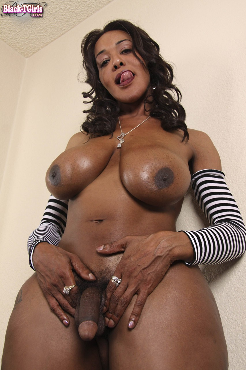 Ebony Shemale Monster Cock