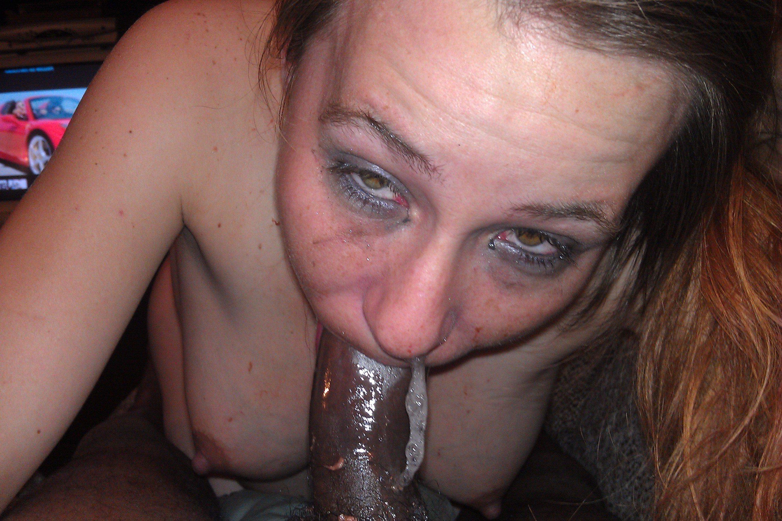 White wife deepthroat