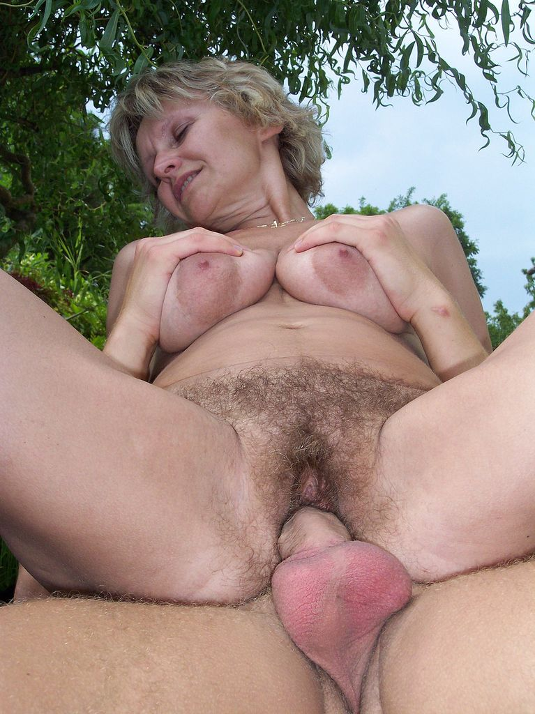 Something Outdoor mature lady fucked her hairy cunt for that