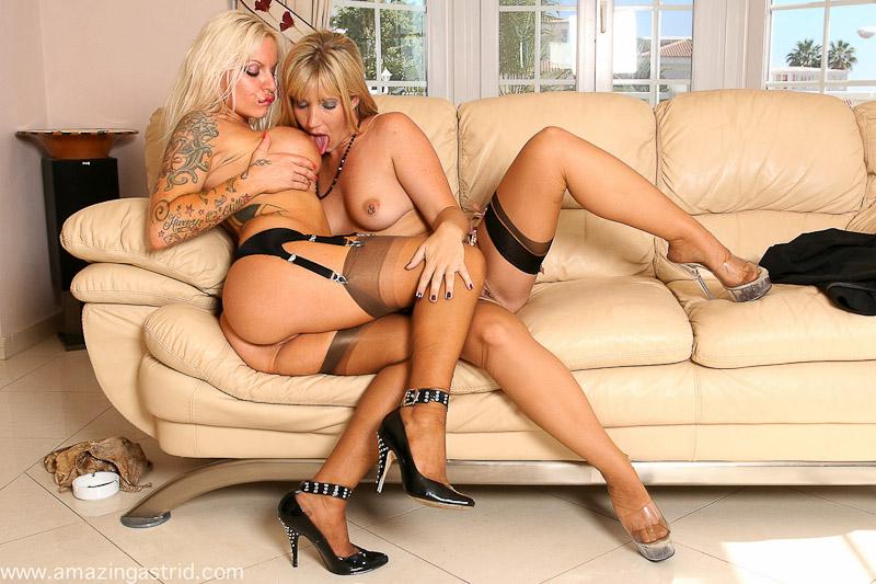 Lesbian stocking movie