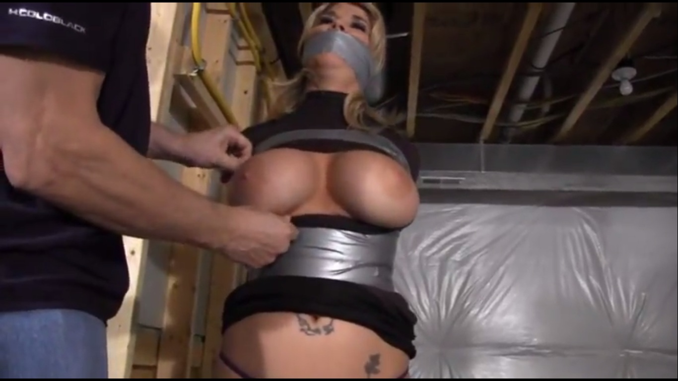 Naked girl duct tape milf bondage
