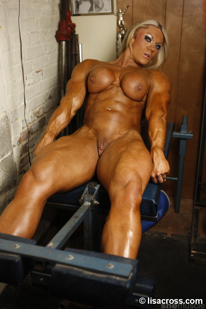 Nude muscle men in women