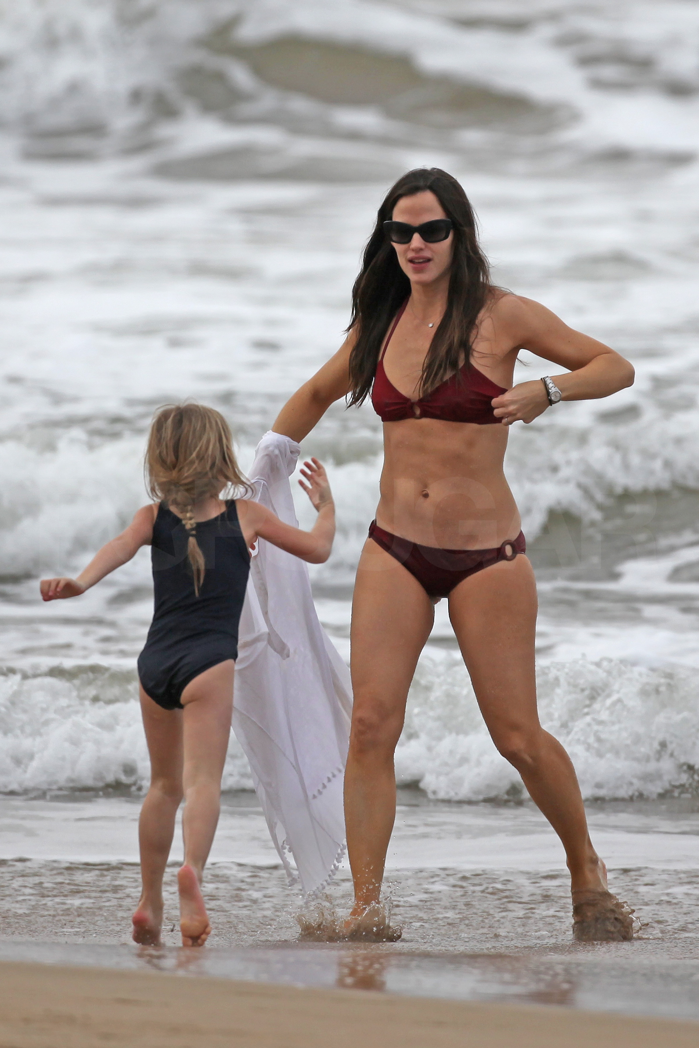 Nutt jennifer garner blue bikini