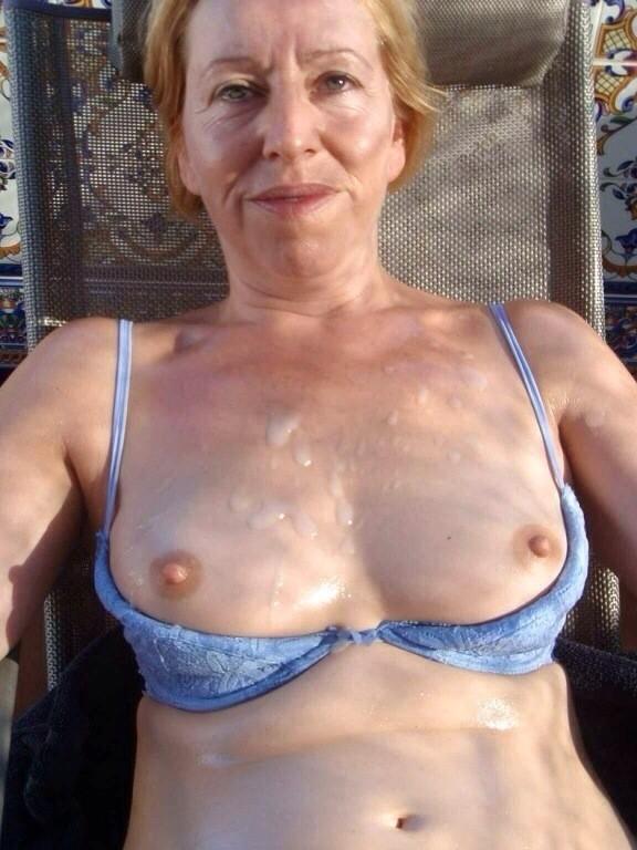 Mature older women in spandex