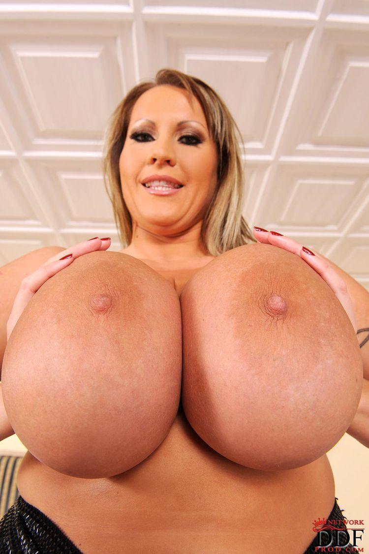 Biggest Boobs: 40F Laura M. – huge BIG BOOBIES and a black friend