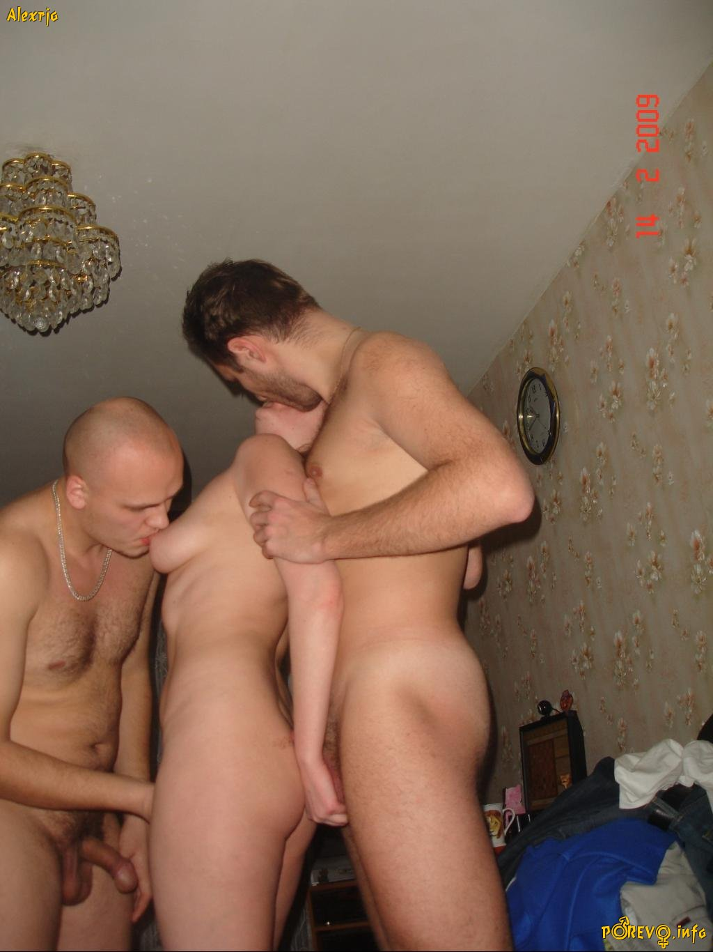 two women and one men doing nude fuck