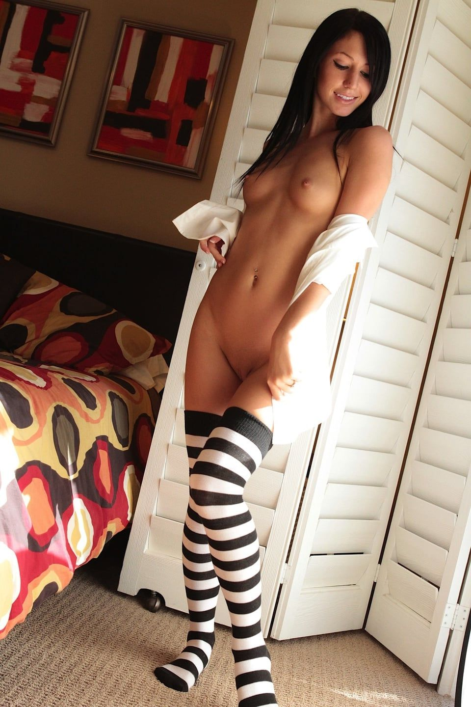 Naked girls knee high socks