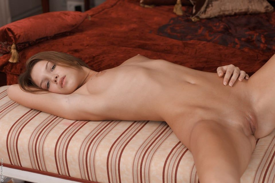 naked on the Hot side laying girl