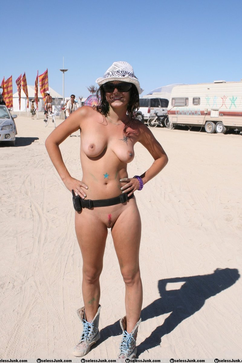 Women burning hot man