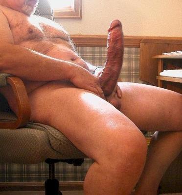Grandpa has a huge cock