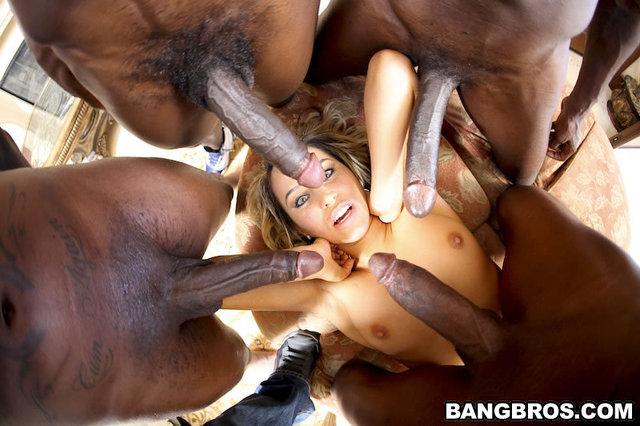 Huge Tits Teen Gangbang