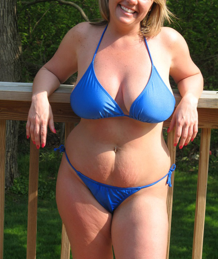 Was specially mature woman blue bikini