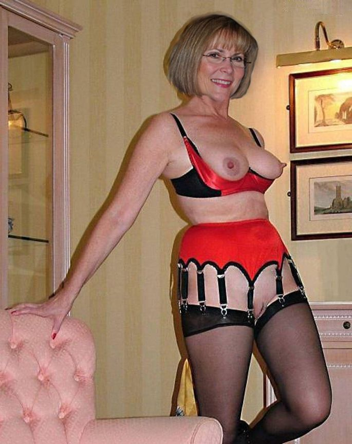 Mature in stockings xxx