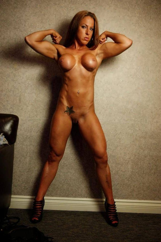 Mature nude woman athlete
