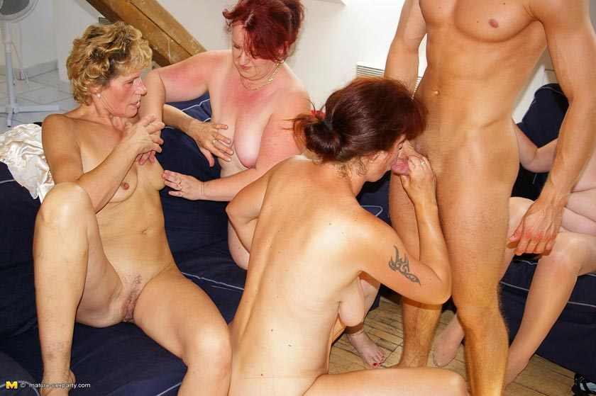 Group sex age 45 milf