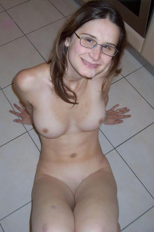Magnificent White nude geek female