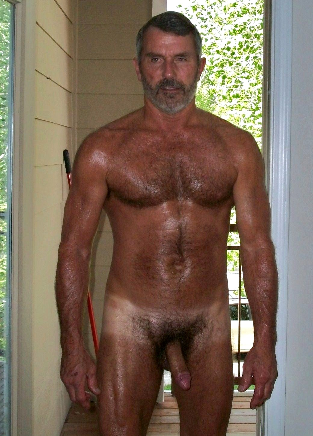 Nude Naked man over 40