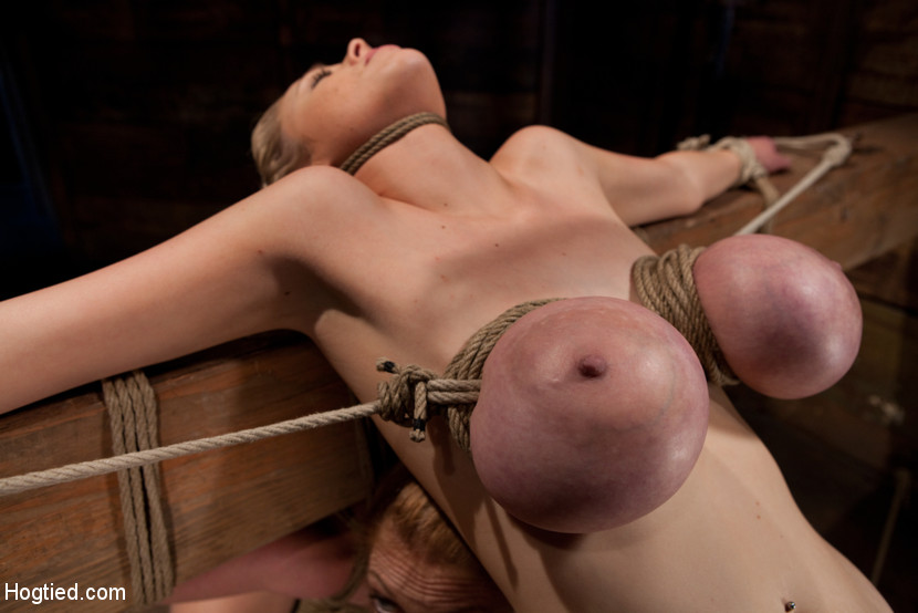 biggest tits tied up tight