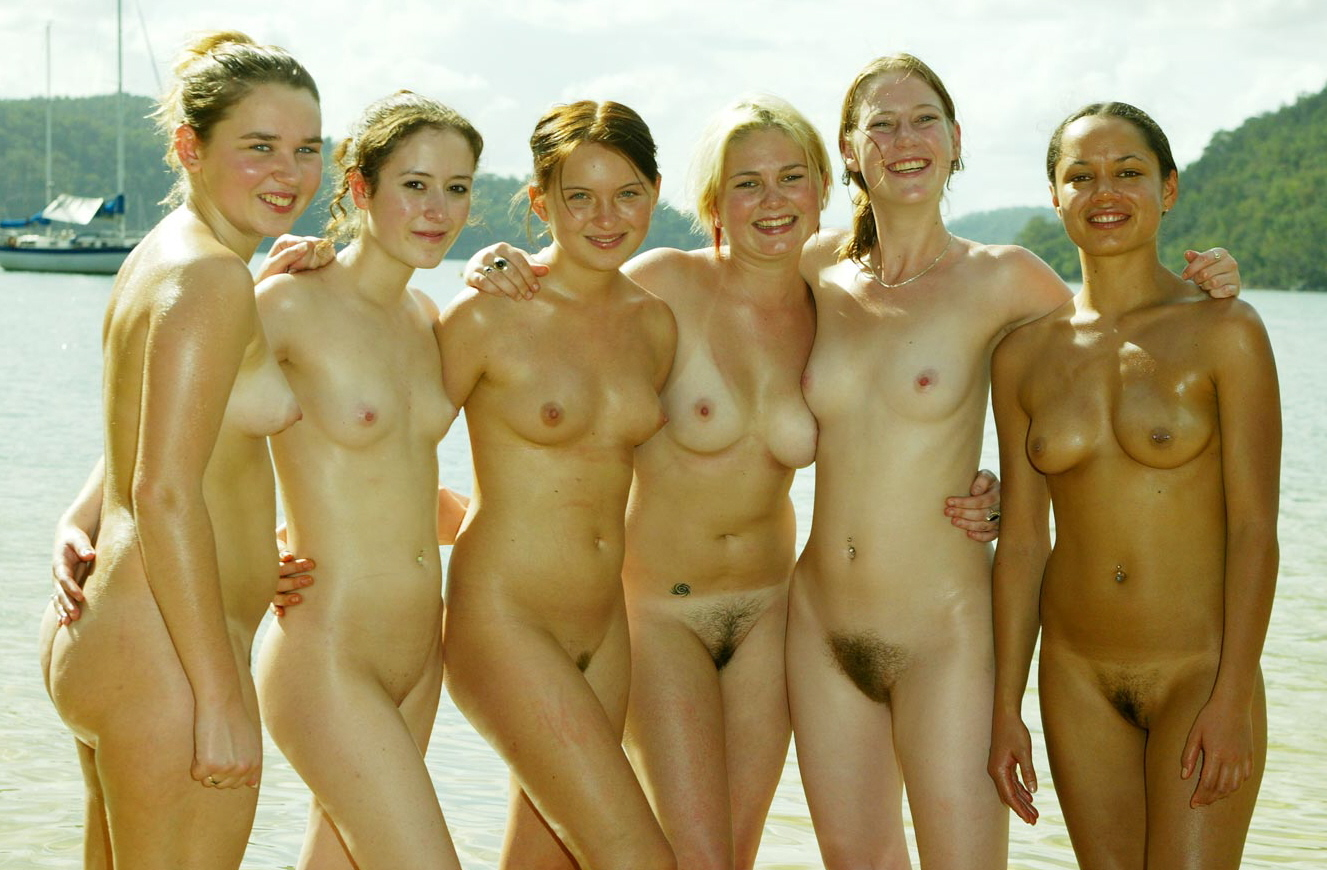 group of friends get naked