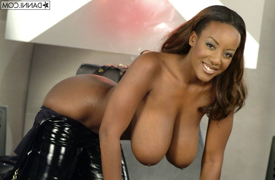 black girl with breast Naked point