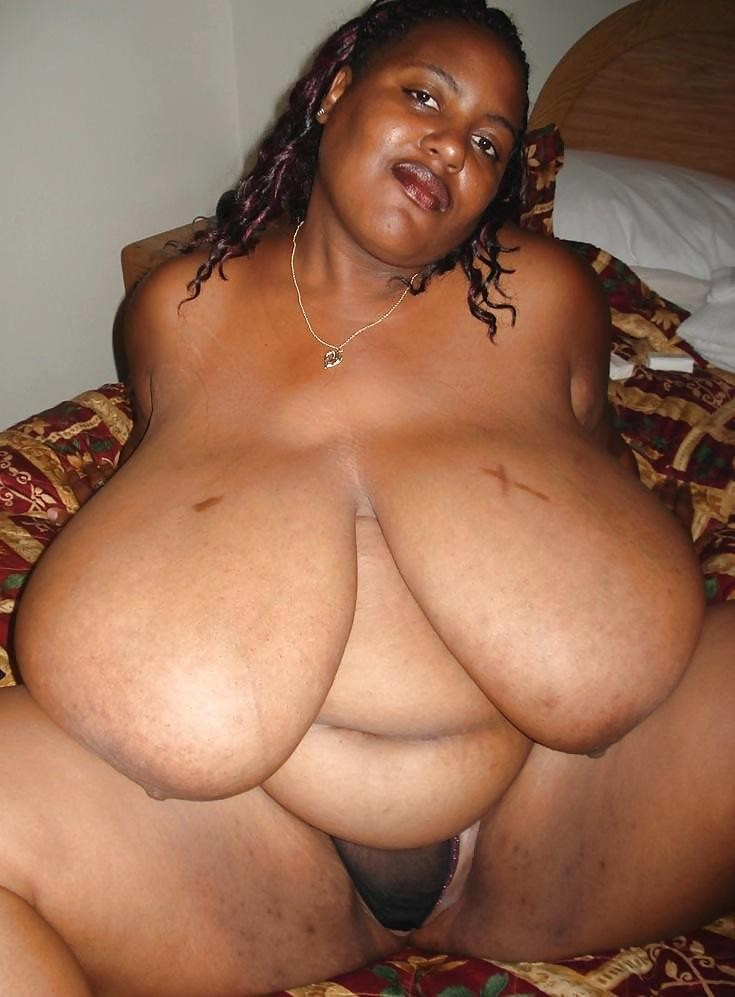 Big black tits and butt