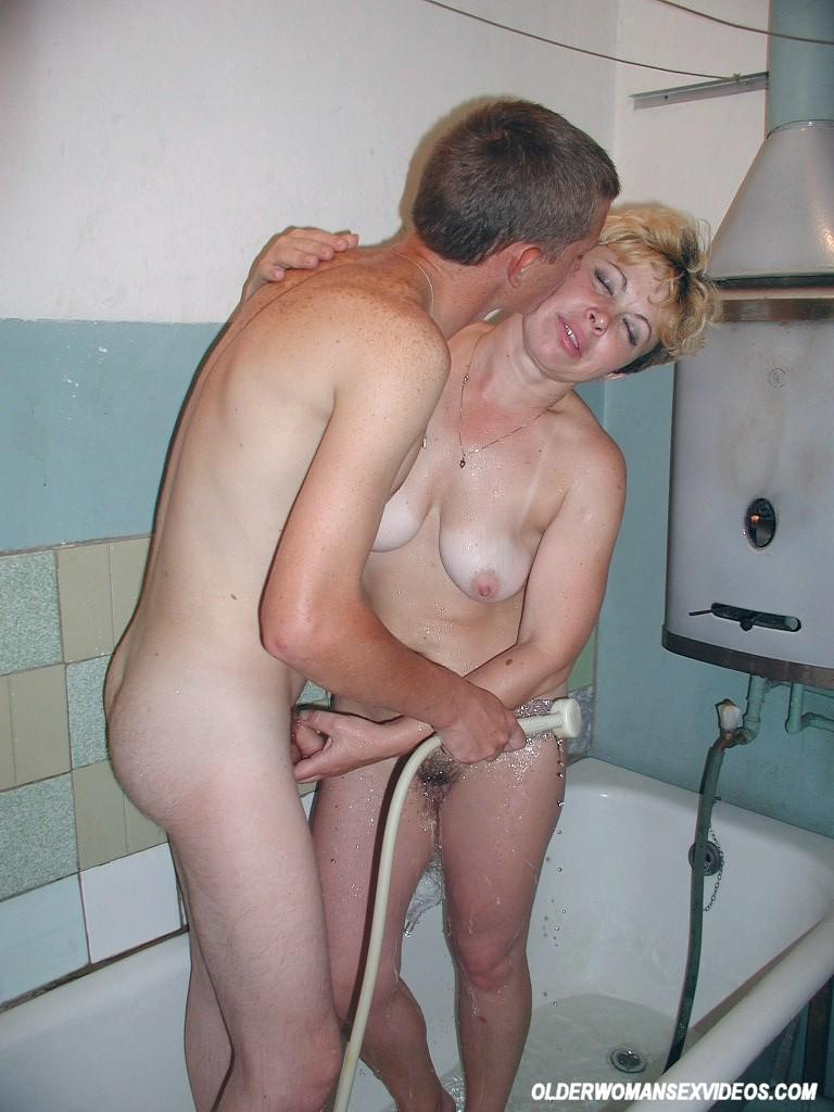 Old woman fucks milf