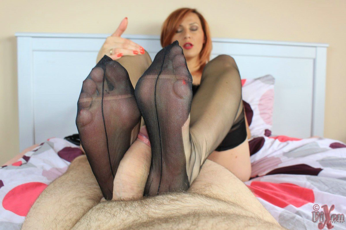 ass worship pantyhose footjob