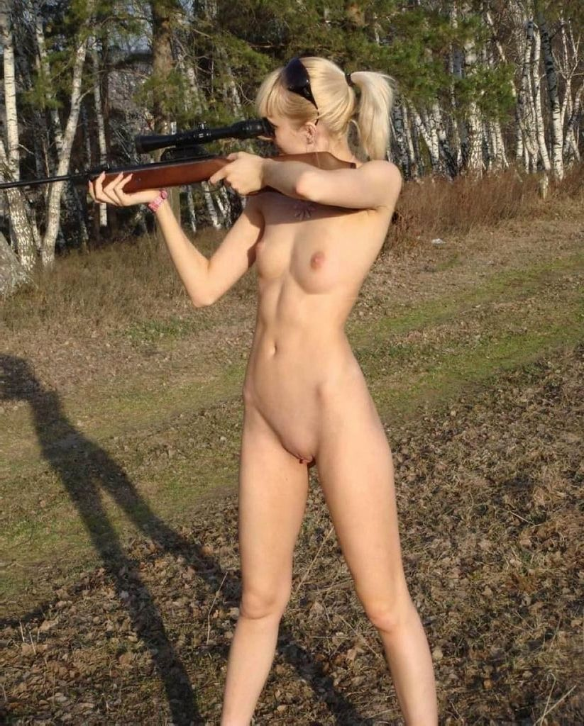 Guns naked women shooting
