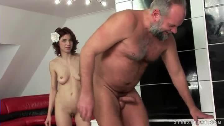 Fat guy fucking hot girl