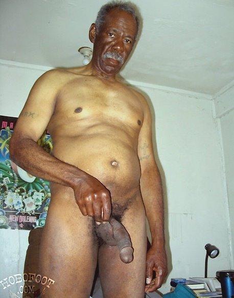 Black man naked old