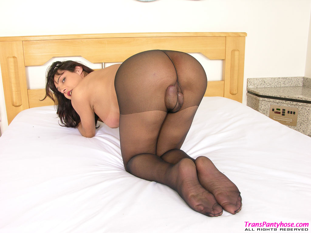 Transsexual in pantyhose