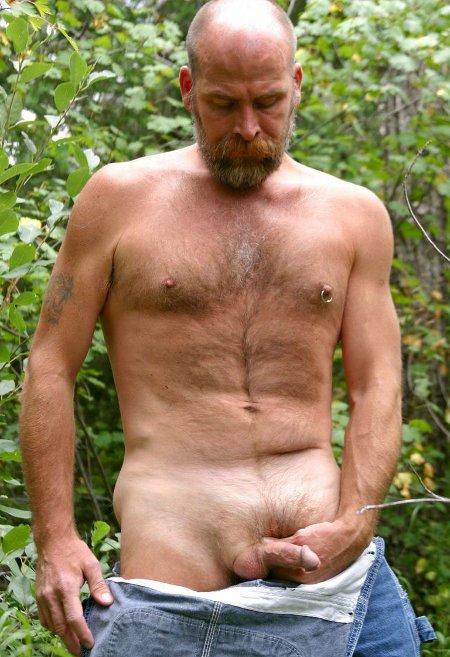 Hairy men naked older