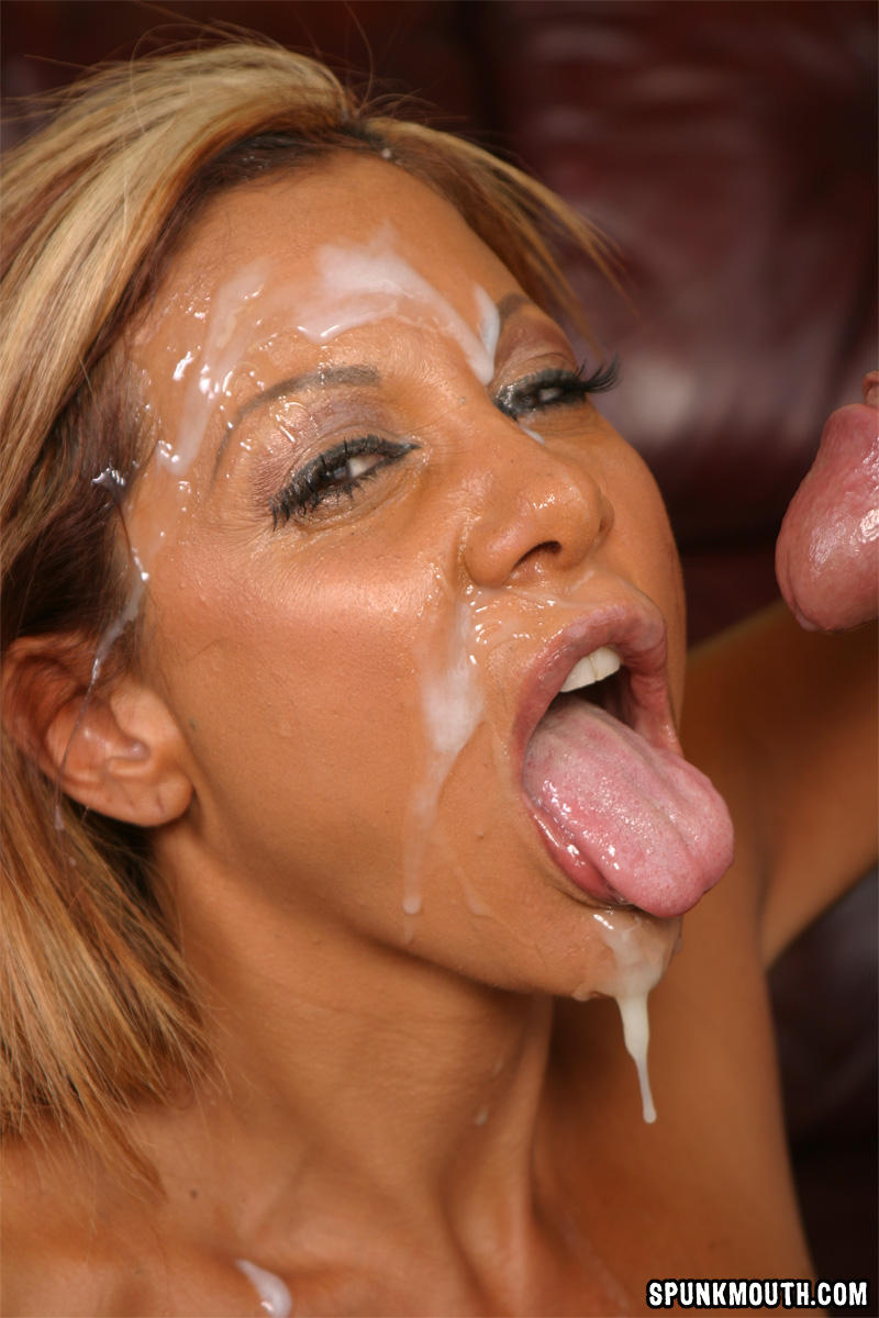 women with cum on their face
