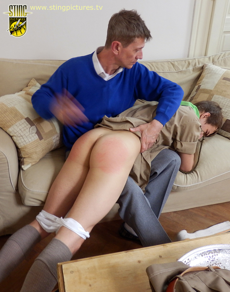 image Boys punished naked whipping young blows