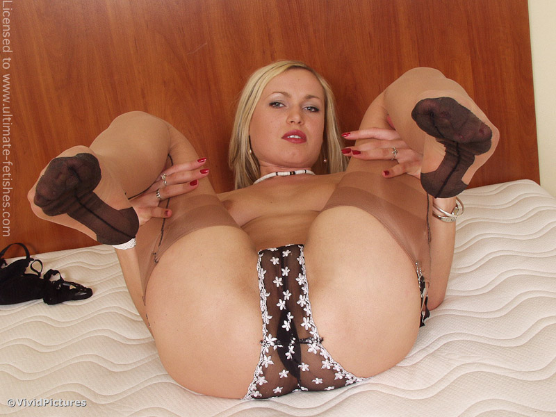 Are Blonde nylon footjob thought