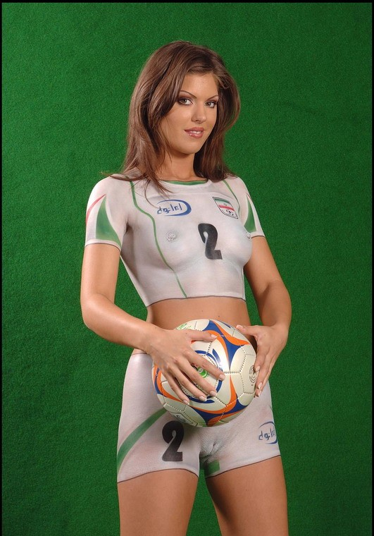 Football Baby Body Painting Ftv Girls 1