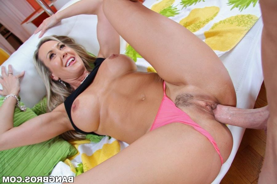 Interesting mom love son cum in her pussy