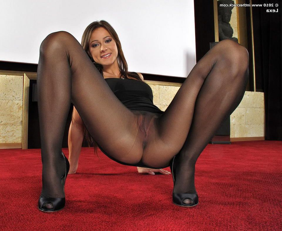 Seems transsexual in pantyhose