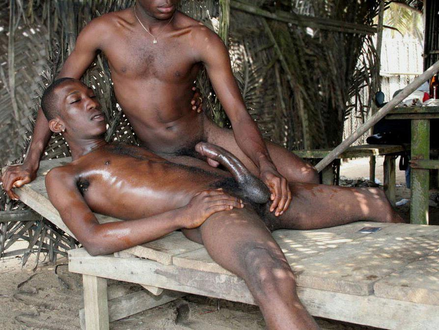 Nude african tribal men