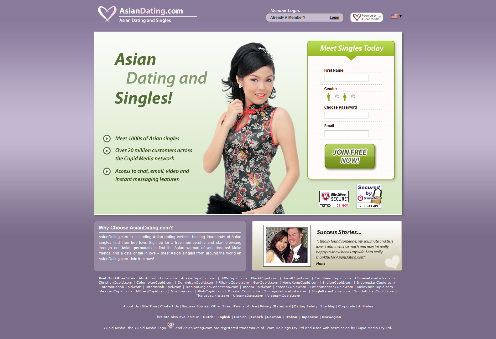 california singles dating