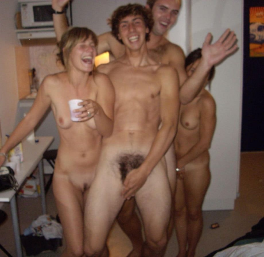 Naked women strip poker