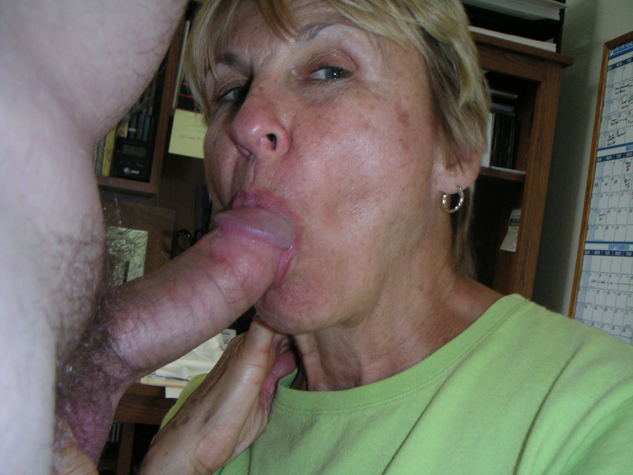Sucking a dick granny